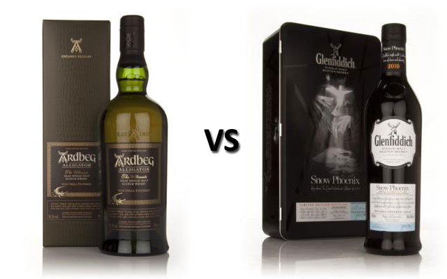 Ardbeg Alligator vs Glenfiddich Snow Phoenix