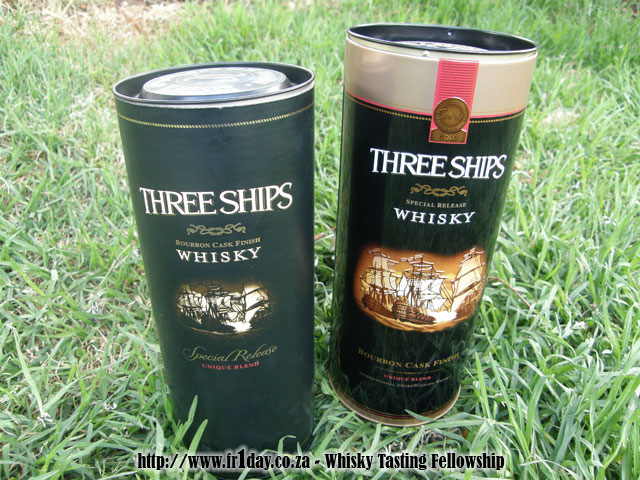 Three Ships Bourbon Cask Finish - Old and New Containers - Front View