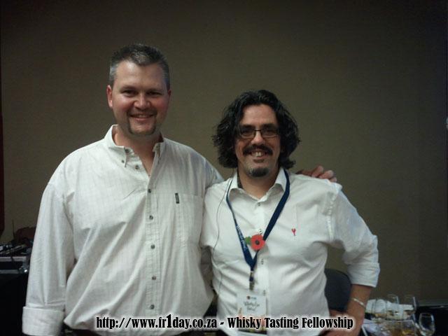 Dave Broom and me at Whisky Live SA 2011