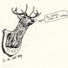 anCnoc Drawings by Peter Arkle - Talking Stag