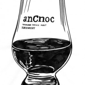 anCnoc Drawings by Peter Arkle - anCnoc in a Glass