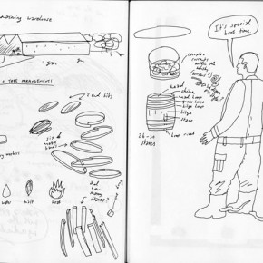 anCnoc Drawings by Peter Arkle - Research Notes