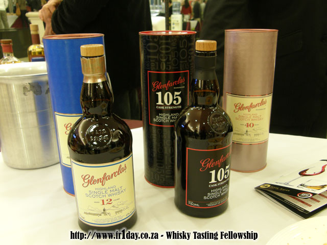 Some of the Glenfarclas Whiskies We Tasted: Glenfarclas 12yo, 105 and 40yo