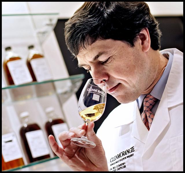 Dr Bill Lumsden nosing a Glenmorangie