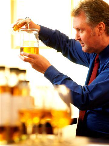 Ian MacMillan, hard at work creating the next great whisky
