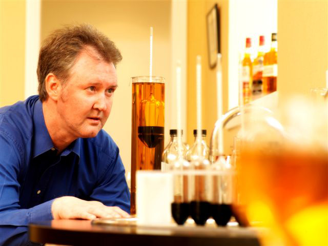 Ian MacMillan in the lab