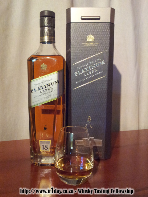 First pour of Johnnie Walker Platinum Label