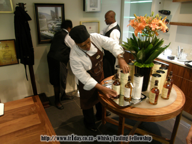 Sandton Sun staff displaying the Balvenie range