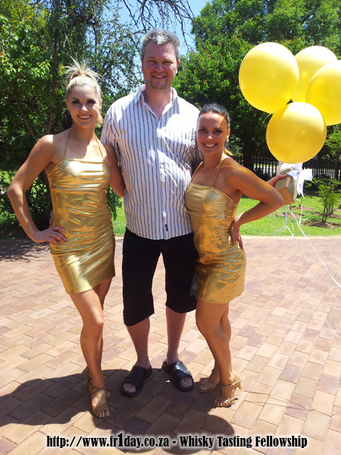 Gold girls, Gold Balloons and Johnnie Walker Gold Label Reserve Whisky