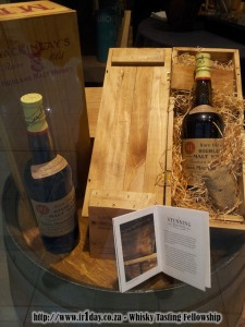 Shackleton whisky on display