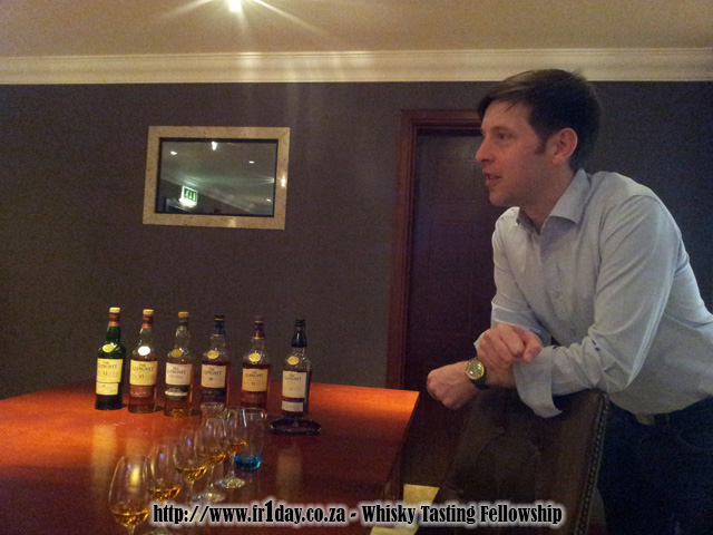 Alex Robertson leading a tasting of The Glenlivet range