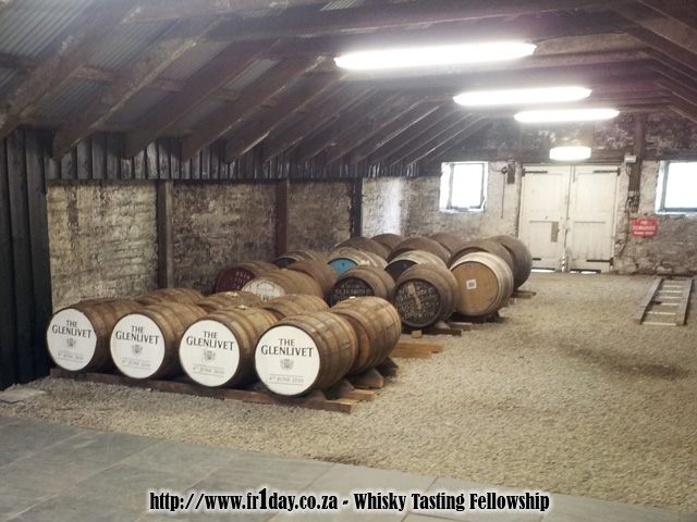 Inside a Glenlivet dunnage warehouse
