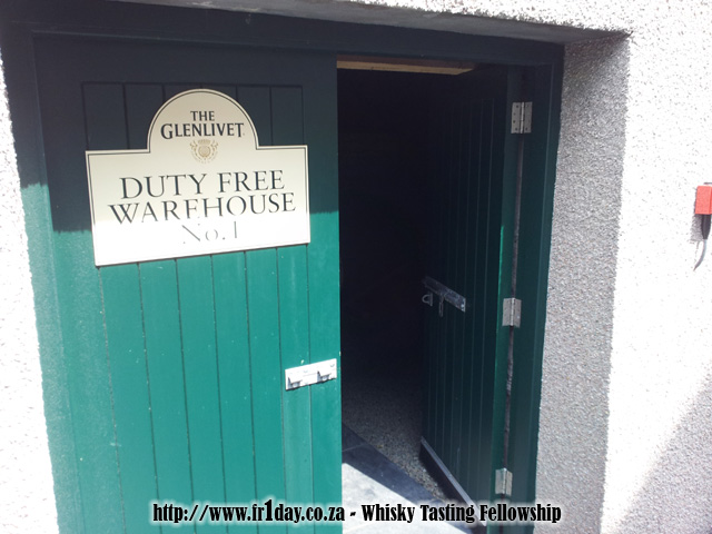 The Glenlivet duty free warehouse No. 1