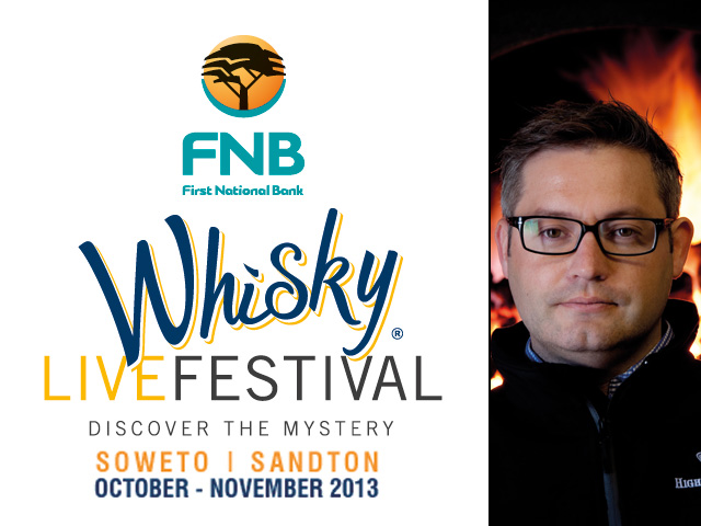 Gerry Tosh from Highland Park will be at the 2013 FNB Whisky Live Festival