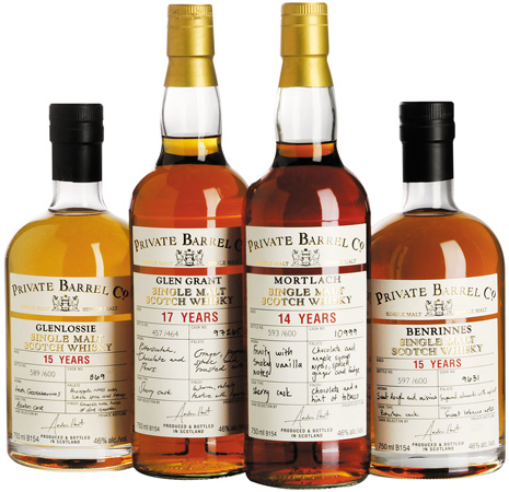 The Private Barrel Co range of whiskies available at Checkers LiquorShop