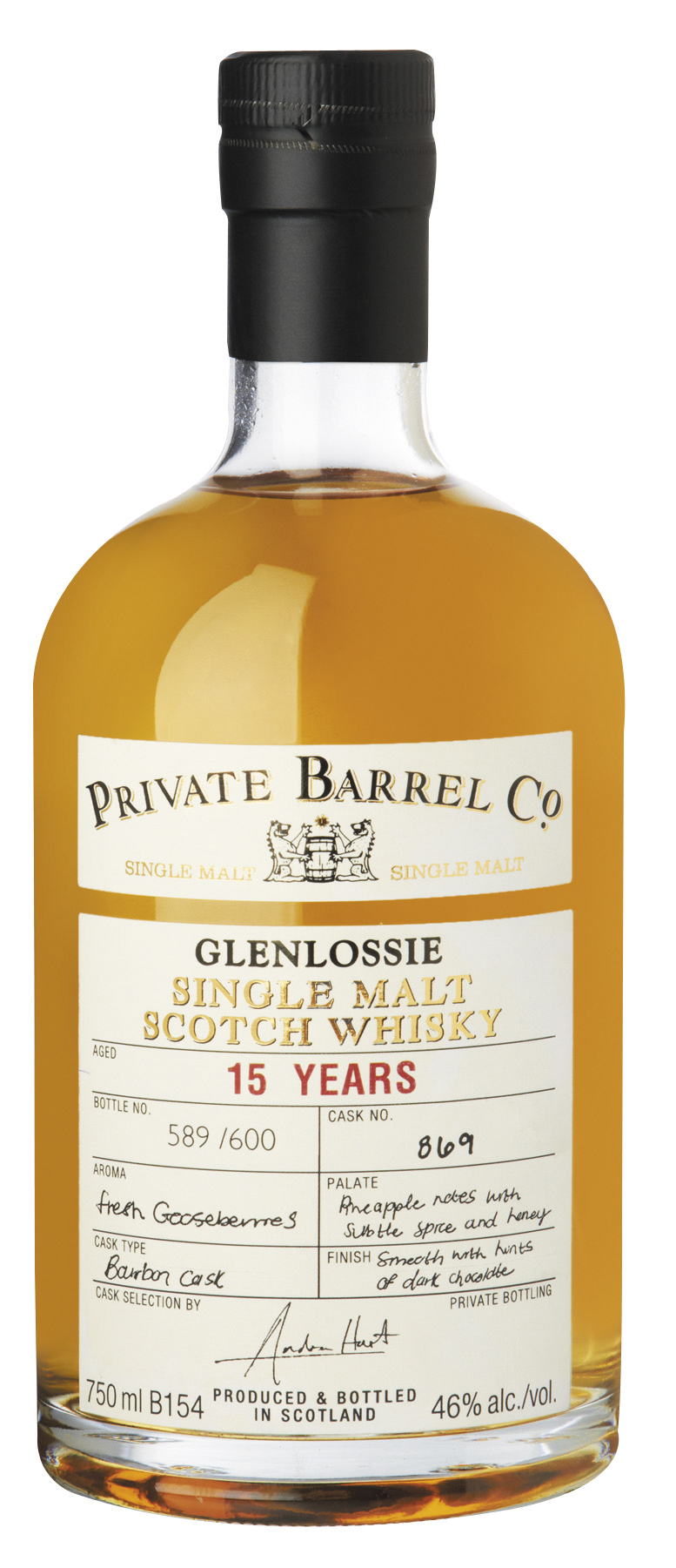 Glenlossie 15yo - Private Barrel Co