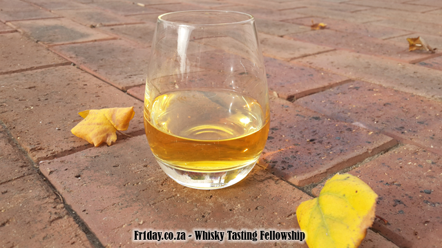 A dram the colour of golden autumn leaves