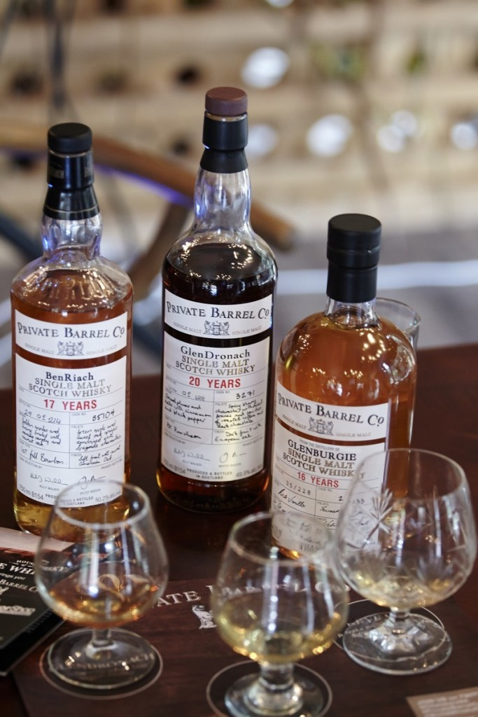 Benriach, Glendronach and Glenburgie single cask whiskies