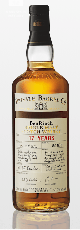 Private Barrel Co Benriach 17 year old