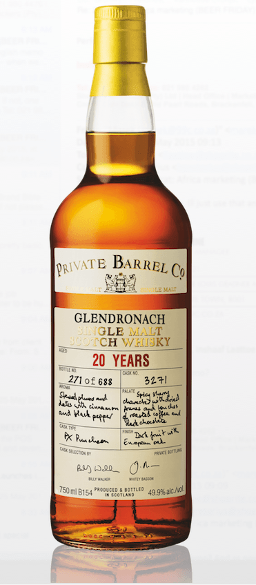Private Barrel Co Glendronach 20 year old