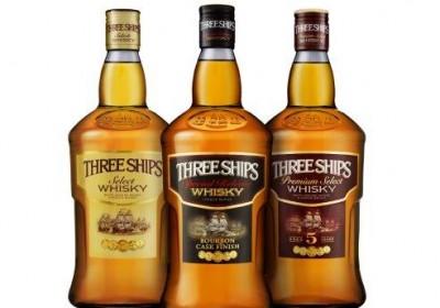 The new-look Three Ships whisky range