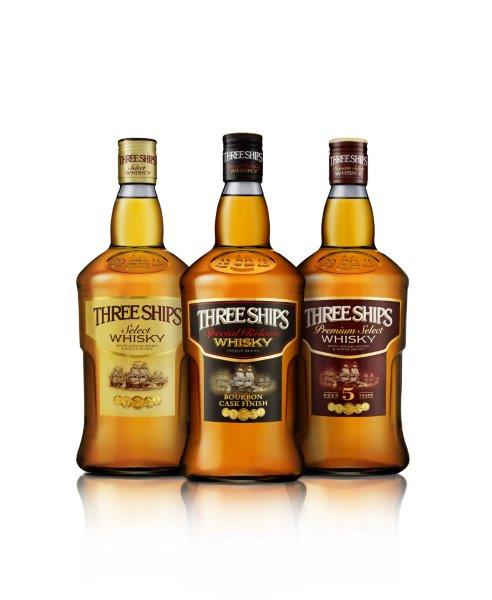 The new-look Three Ships whisky range