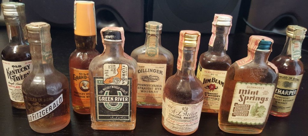 American whiskey miniatures from 1930s-1970s