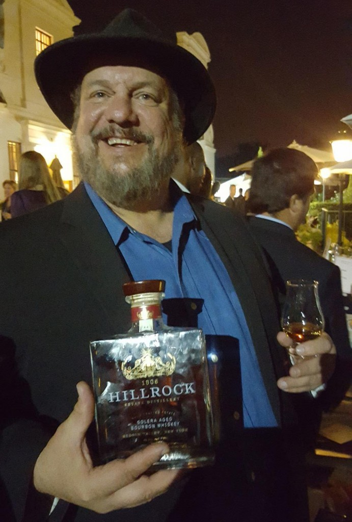 Dave Pickerell proudly sharing his Hillrock Distillery Solera Bourbon