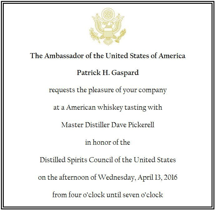 US Ambassador Invitation