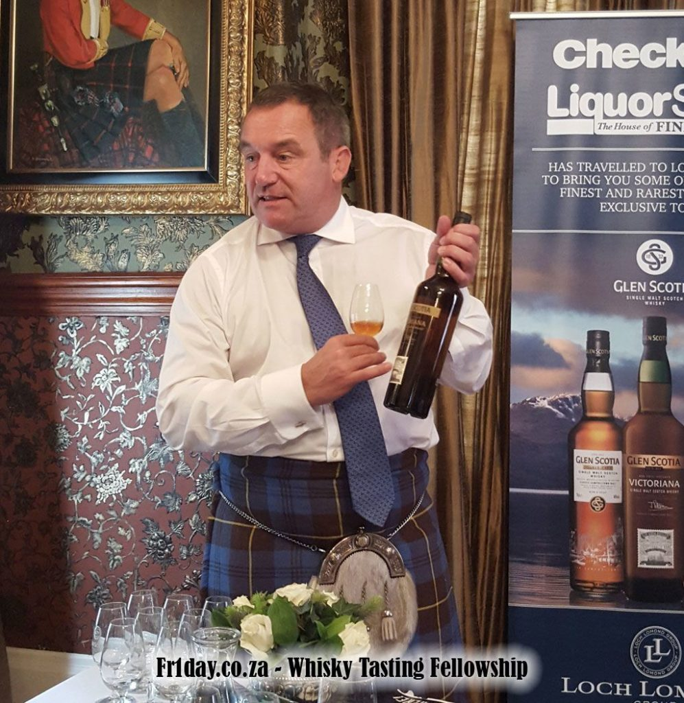 Bill White Leading the Loch Lomond and Glen Scotia Tasting