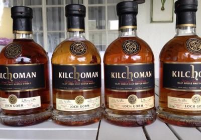 Kilchoman Loch Gorm 2013 through 2016 bottles