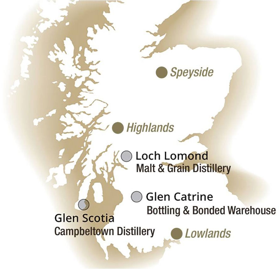 Loch Lomond Group distilleries