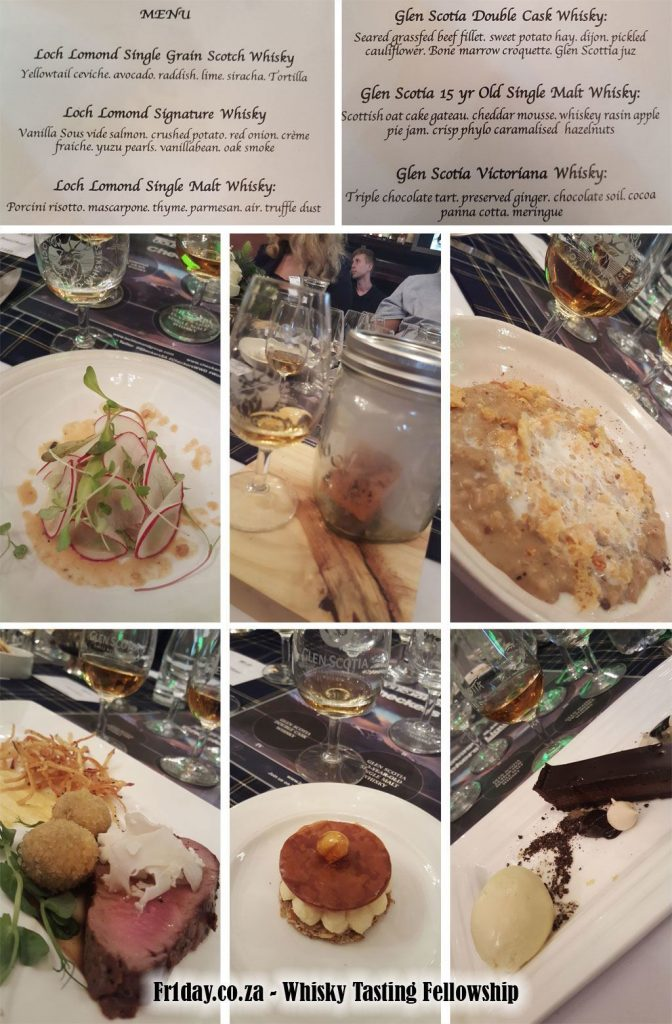 Whisky Pairing Menu by Chef Sasha Sonnenberg