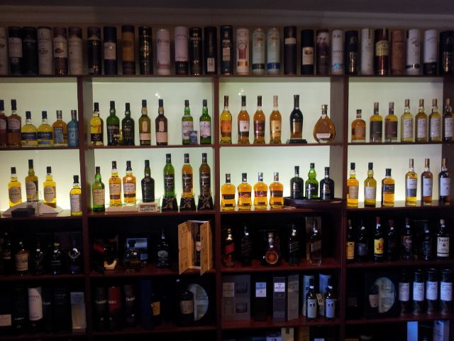 Inside the Wild About Whisky shop