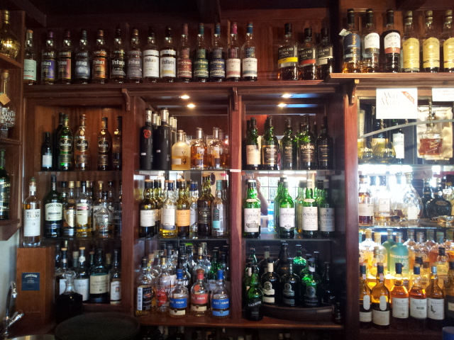 More whiskies behind the bar