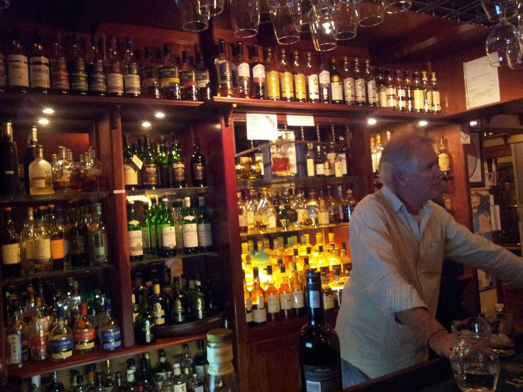 Steve behind the bar