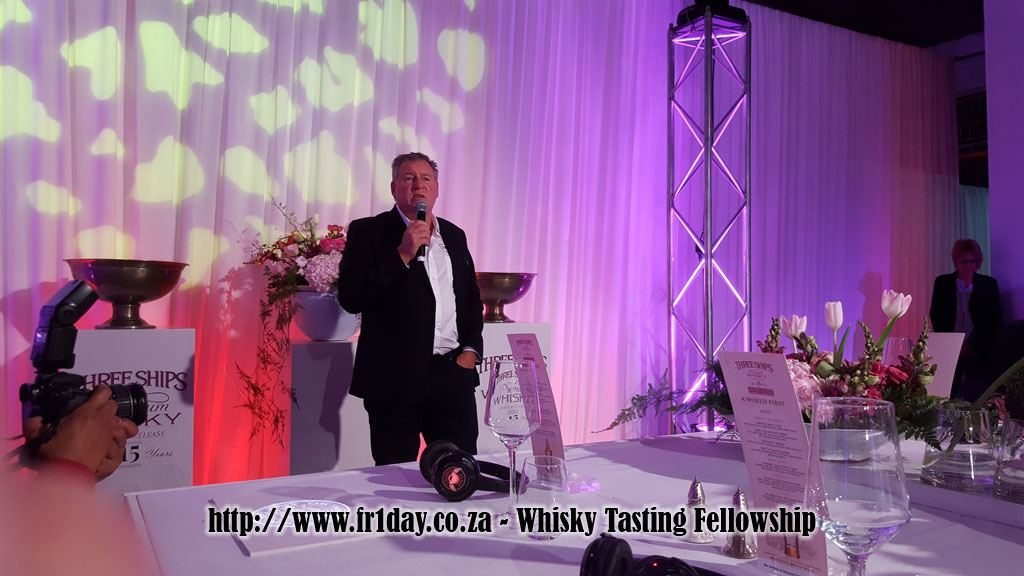 Andy Watts - creator of the 15 yaer old Three Ships Pinotage Cask Finish Whisky