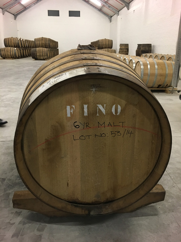 The Fino Sherry Cask selected for the PBC JSD 6yo release