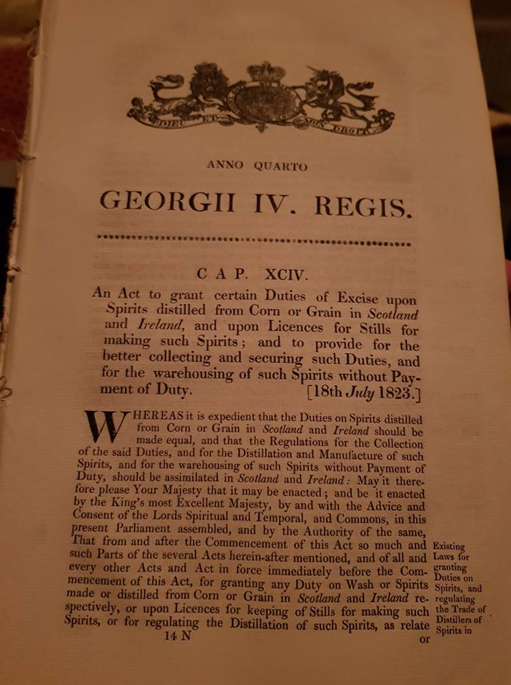 Actual Copy Of The 1823 Excise Act