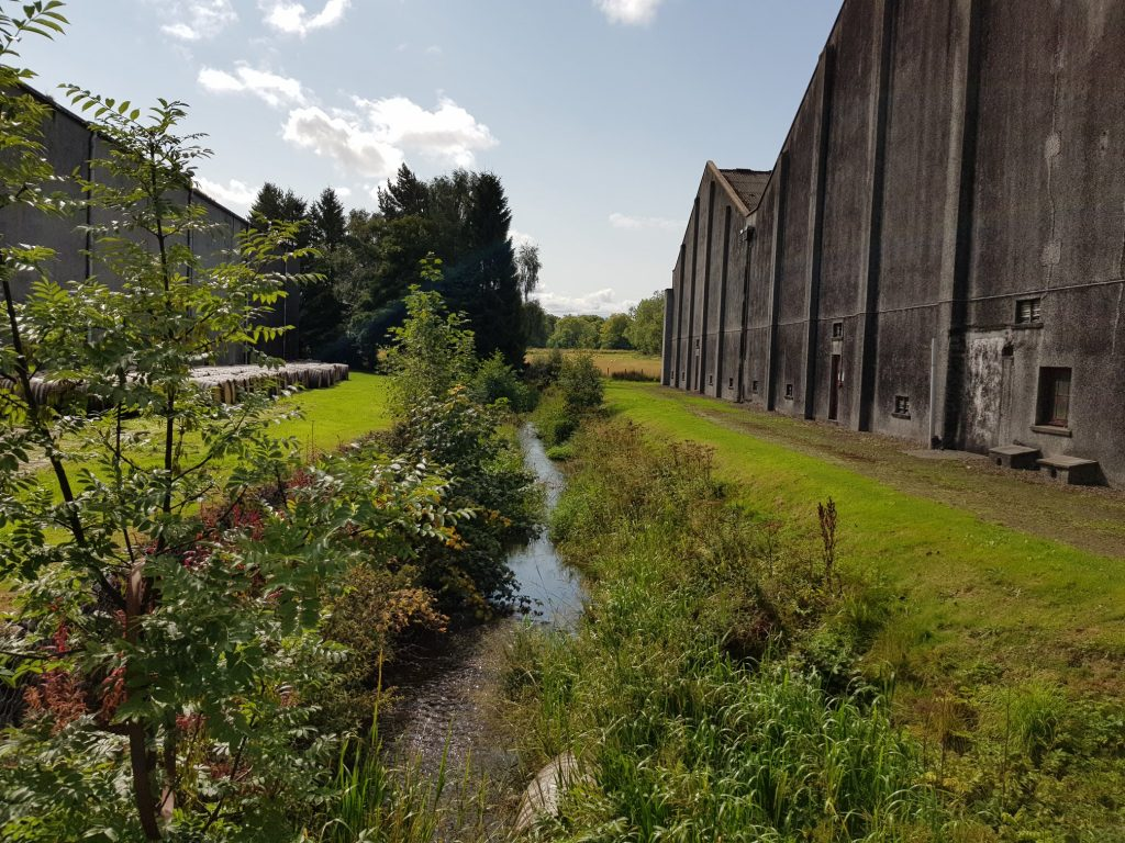 Dronach Burn Runs Past Warehouses