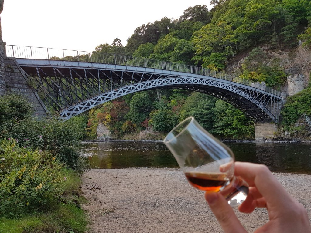 Enjoying A Dram Under Craigellachie Bridge