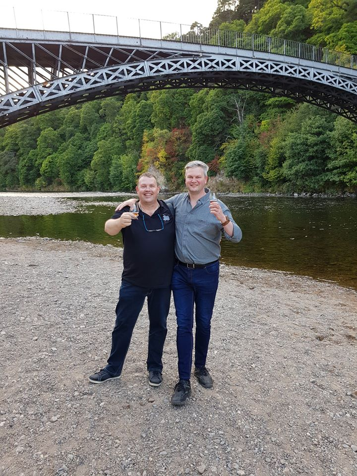 Whisky Pig Brothers At Craigellachie Bridge