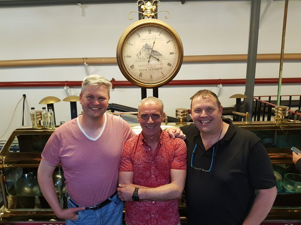 Posing In Front Of Benriach Spirit Safe