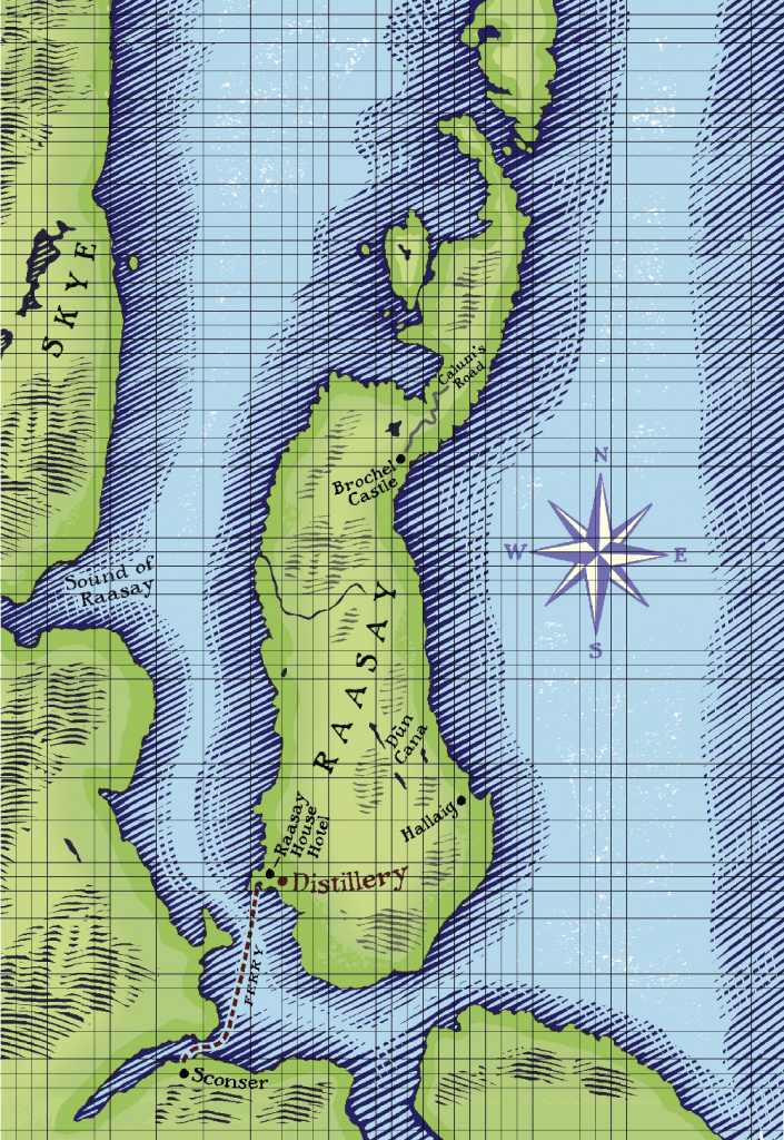Map of Raasay Island