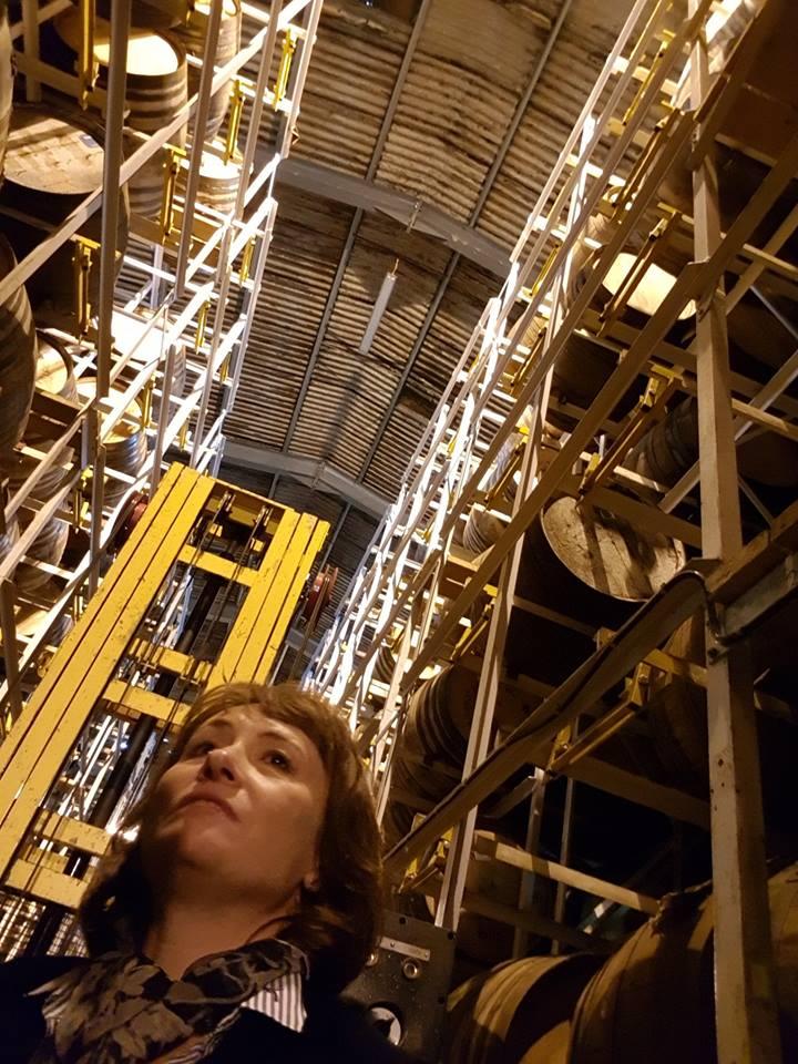 Rachel Barrie In A GlenDronach Warehouse