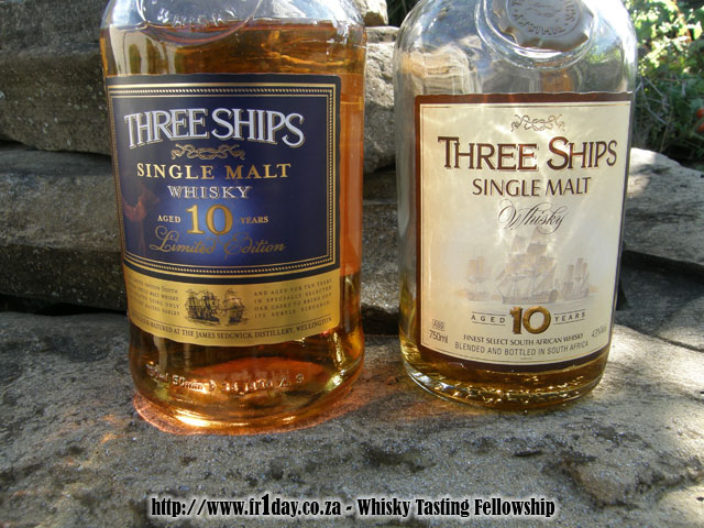 Three ships 10yo single malt - 2010 and 2003 releases