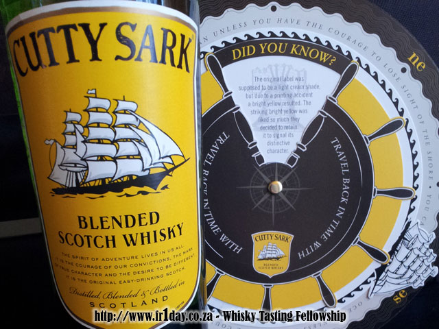 Cutty Sark Available in South Africa