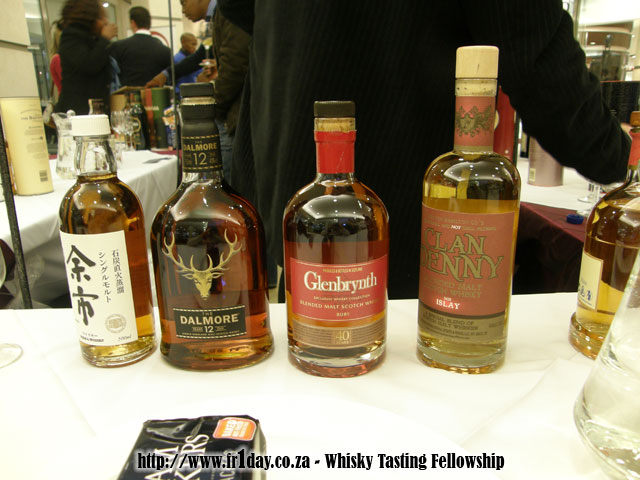 Some of the Great Whiskies on Offer at the Whisky Shop Stand