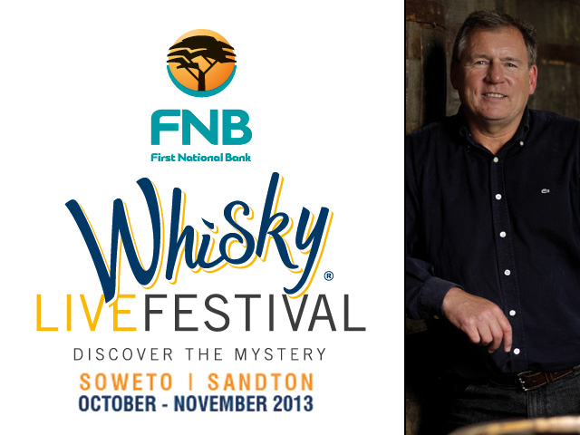 Andy Watts, Three Ships master distiller, will be at the 2013 FNB Whisky Live Festival