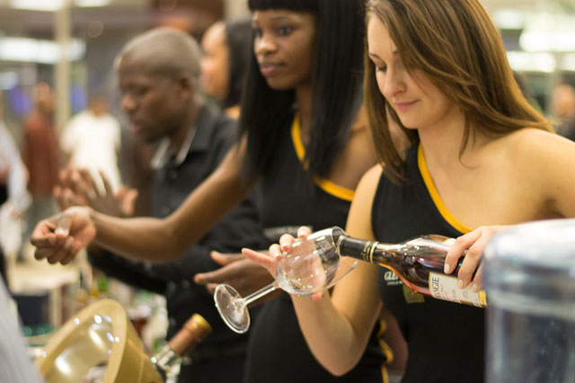 Hard at work at the Kaya FM Wine & Malt Whisky Affair